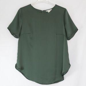 H&M Green Short Sleeve Scoop Neck Top